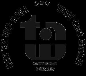 Objektschutz, Zertifikats-Logo der DIN EN ISO 9001:2015