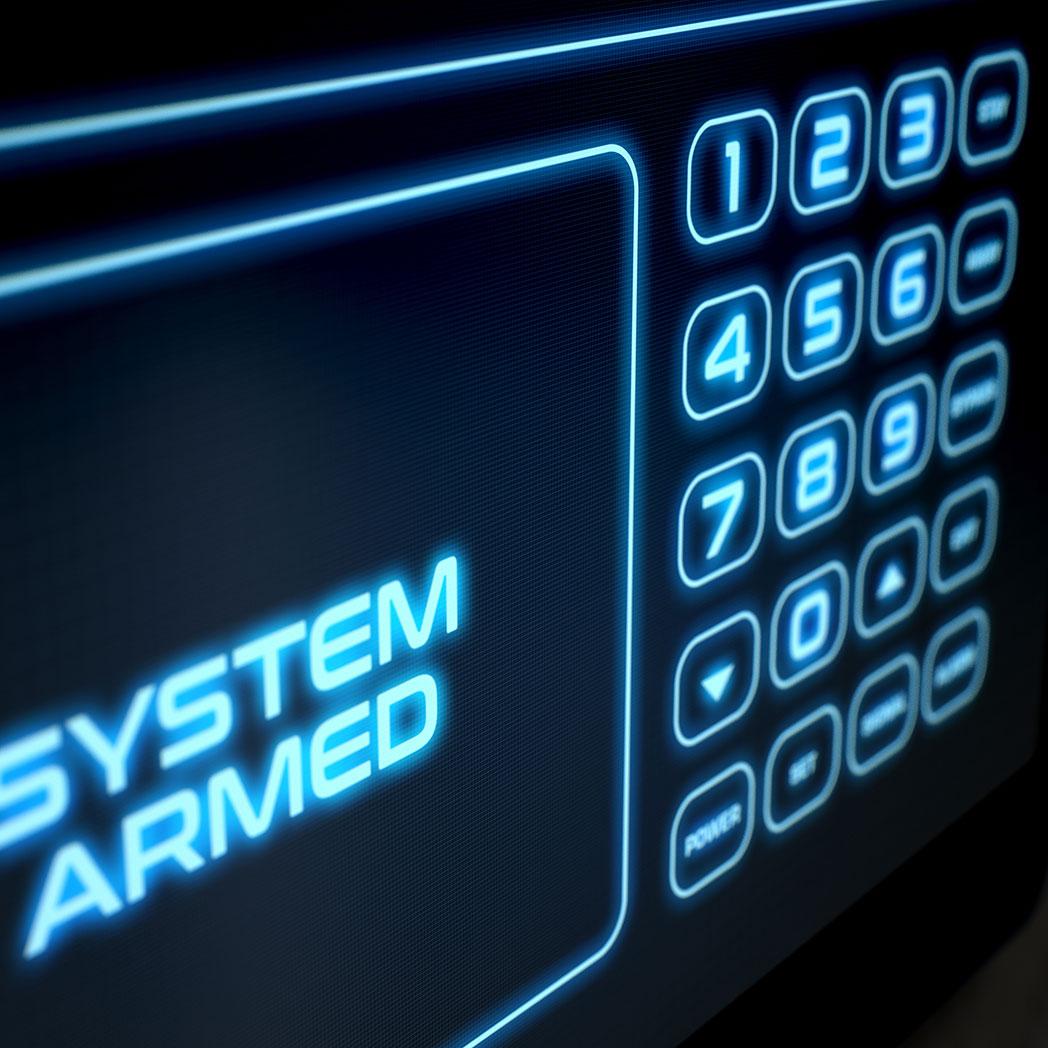 Moderne Einbruchmeldesystem geben immer den aktuellen Status an.